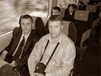 Виктор Ферцев, Александр Терехин, Виталий Башкин: в позде Нарита-Экспресс
