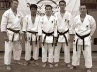 Российская команда с сэнсэем Яхара