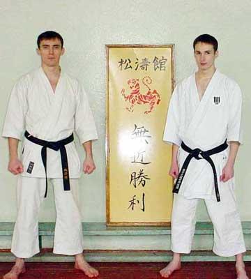 Сэнсэй Уколов (3 Дан KWF) и сэнсэй Чичварин (4 Дан KWF)