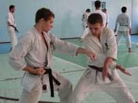 Тренировка защитных приемов