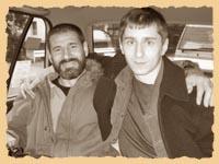 Олег Бриленок и Олег Ларионов в токийском такси