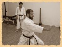 Тренировка в хонбу додзё KWF: сэнсэй Микио Яхара диктует ритм ката сочин