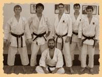 Команда России после тренировки в хонбу додзё