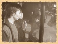 Александр Скрябин окуривает себя священным дымом