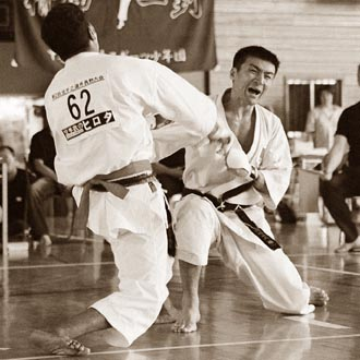 Абсолютный чемпион Японии, технический директор KWF Норио Кавасаки (6 дан)