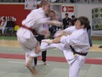 Соревнования по кумитэ среди юношей 14-15 лет