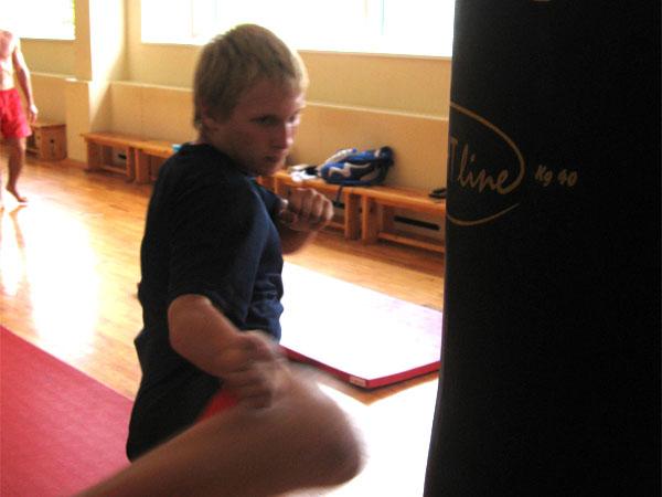 тренировка в зале бокса