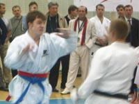 Соревнования по кумитэ среди юниоров: Сорокин Артем, Нурудинов Гамзат