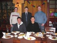 Встреча японских гостей: Александр Чичварин, Олег Ларионов, Алнександр Терехин, Норио Кавасаки, Ибуки Тавара