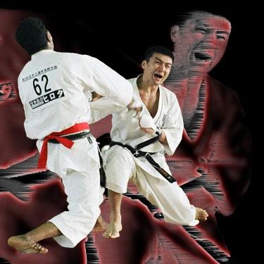 Норио Кавасаки и Пемба Тамон (финал чемпионата Японии по каратэ KWF 2003)